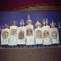 High holiday Torah covers (Anshei Sphard-Beth El Emeth, Memphis, TN)